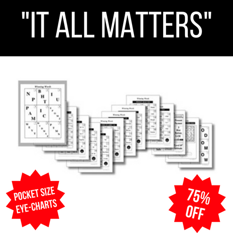 Winning Words Pocket Power Eye Charts (individually or sets of 10)