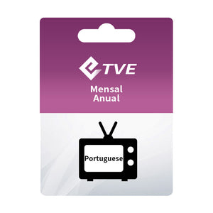 TVE  Monthly Resell codes 10 pcs/Package  Brazil Iptv Services Live Tv Channels Portuges Spanish English