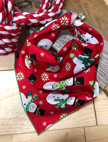 Frosted Snowman Dog Neckerchief