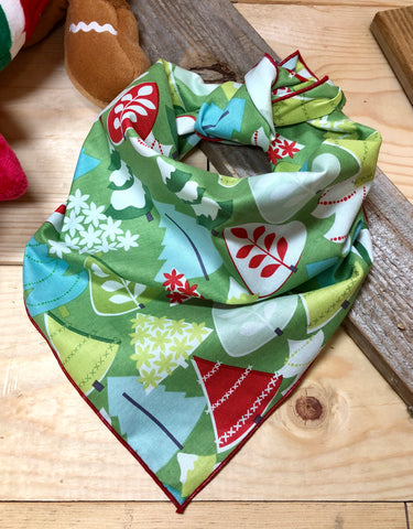 Winter Trees Dog Neckerchief