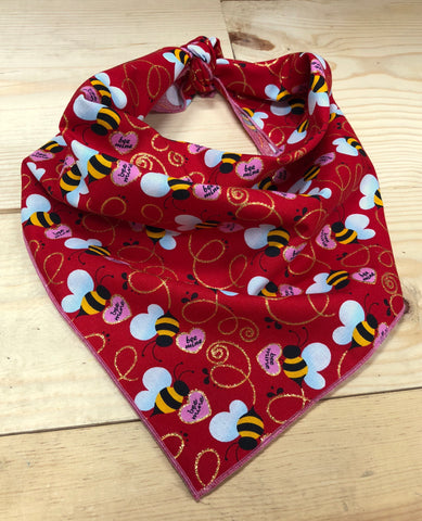 Bee Mine Valentine Neckerchief