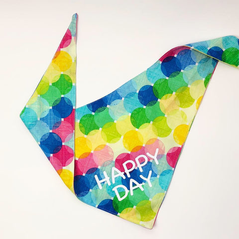 Happy Day-Customizable Neckerchief Bandana
