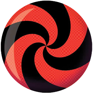 Brunswick Viz-A-Ball Spiral Red/Black