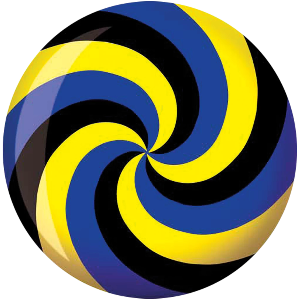 Brunswick Viz-A-Ball Spiral Yellow/Blue/Black