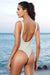 V Neck Thong Ribbed One Piece Swimsuit - Shekini Swimwear