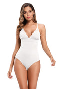 Scalloped Trim One Piece Triangle Bathing Suit - Shekini Swimwear