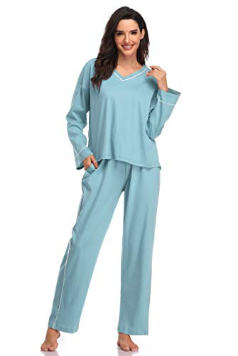 SHEKINI Women's V-Neck Sleepwear Long Sleeves - Shekini Swimwear