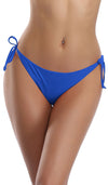 Tie Side Ruched Back Bikini Bottom - Shekini Swimwear