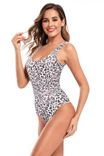 Load image into Gallery viewer, Leopard Print Backless High Cut One Piece - Shekini Swimwear