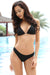 Halter Sliding Triangle Top Shirred Back Bikini - Shekini Swimwear