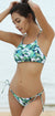 High Neck Halter Tie Side Cheeky Floral Bikini - Shekini Swimwear