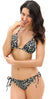 Leopard Printed Sliding Triangle Top Tie Side Bikini - Shekini Swimwear