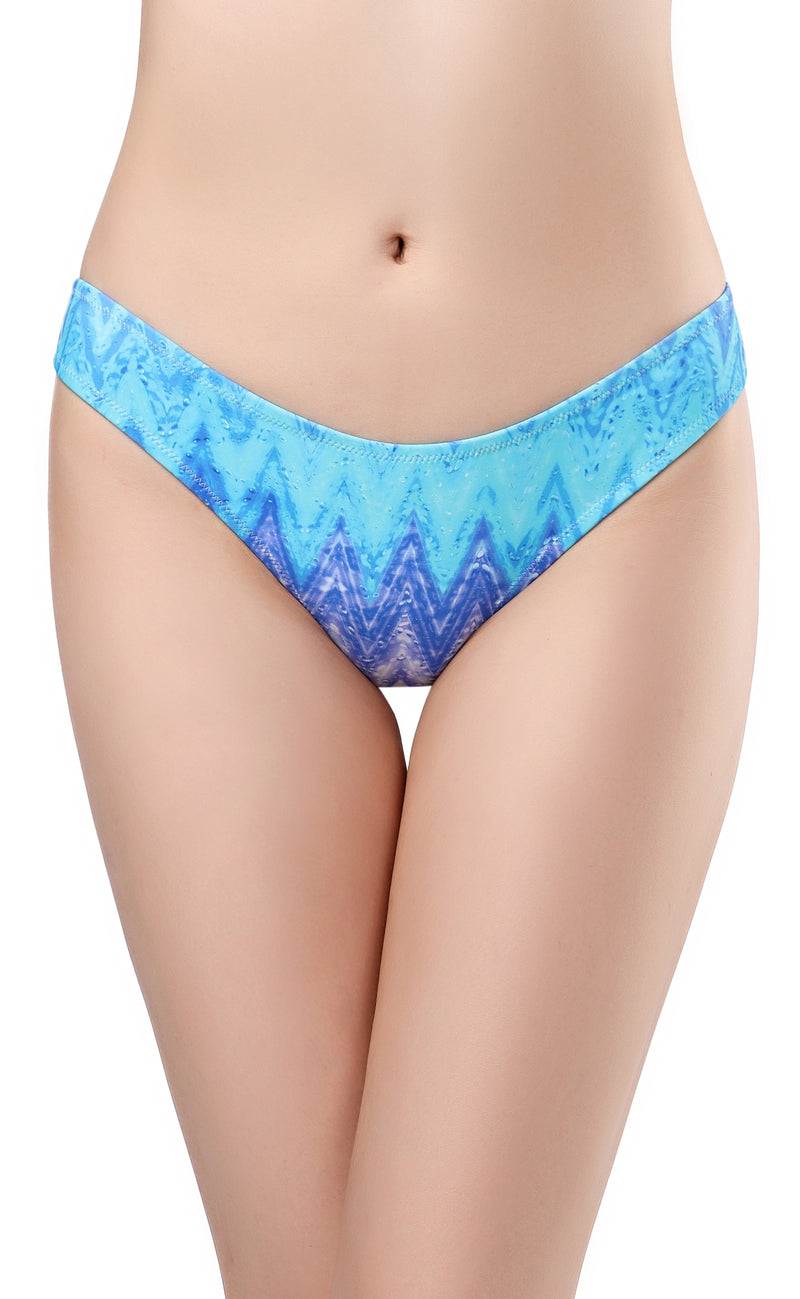 Printed Cheeky Low Rise Bikini Bottom - Shekini Swimwear