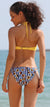 Ruched Bandeau Halter Top Printed Bottom Bikini - Shekini Swimwear