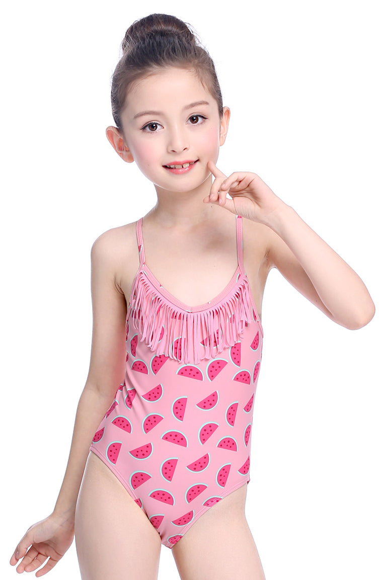 SHEKINI Girls Tassel One Piece Bathing Suits - Shekini Swimwear