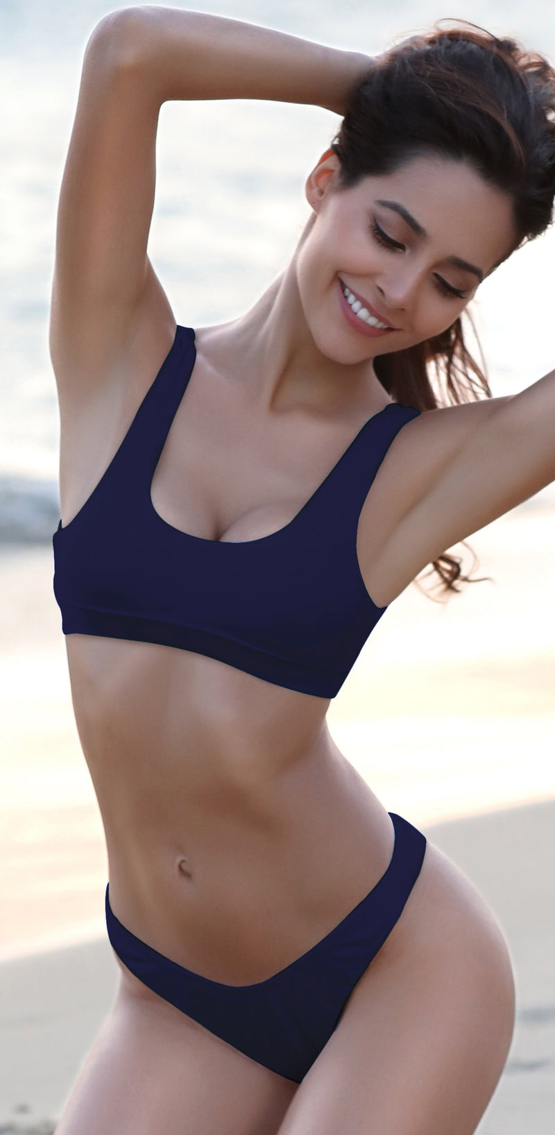 Scoop Neck Sport Non-Padded Bikini - Shekini Swimwear