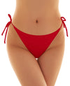Sexy Tie Side Ruched Back Thong Bikini Bottom - Shekini Swimwear