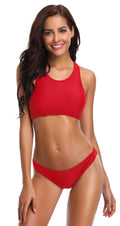 Sport Racerback Low Rise Bottom Bikini Set - Shekini Swimwear