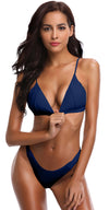 Triangle Bathing Bikini With V Shaped Bottom - Shekini Swimwear
