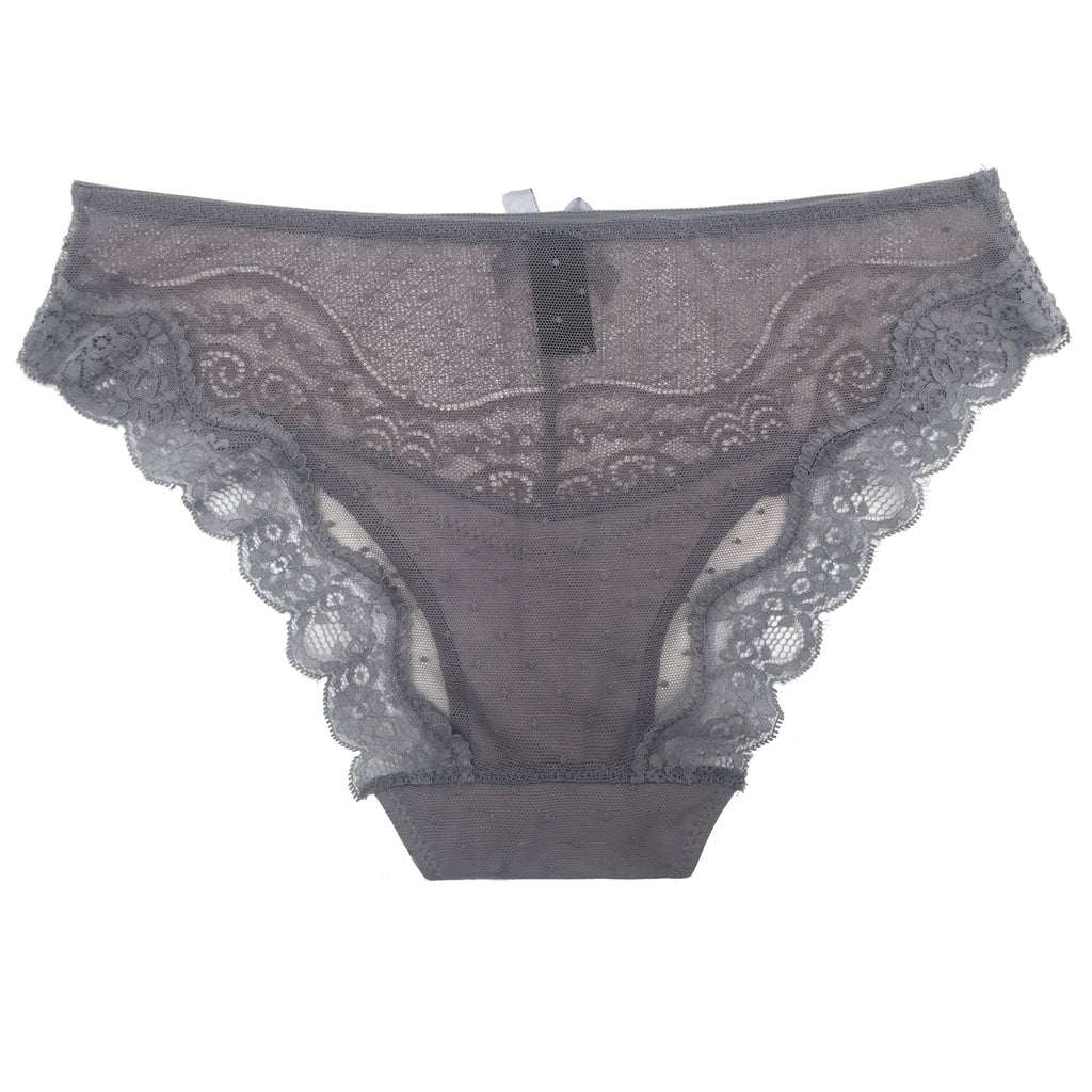 GREY LACE HIPSTER PANTY 1 PC
