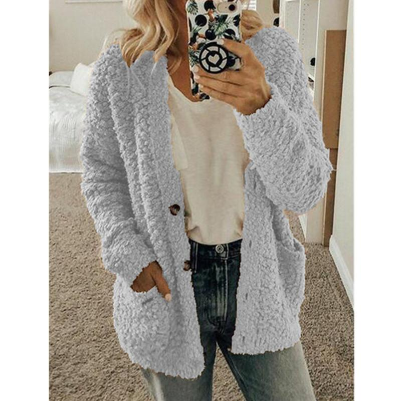 Keep Warm Knit Solid Color Cardigan - Shekini Swimwear
