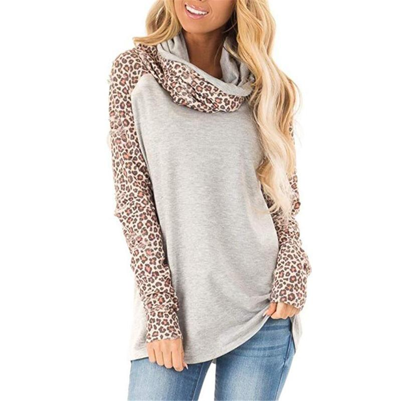 Leopard Print Long Sleeve Top T-Shirt - Shekini Swimwear