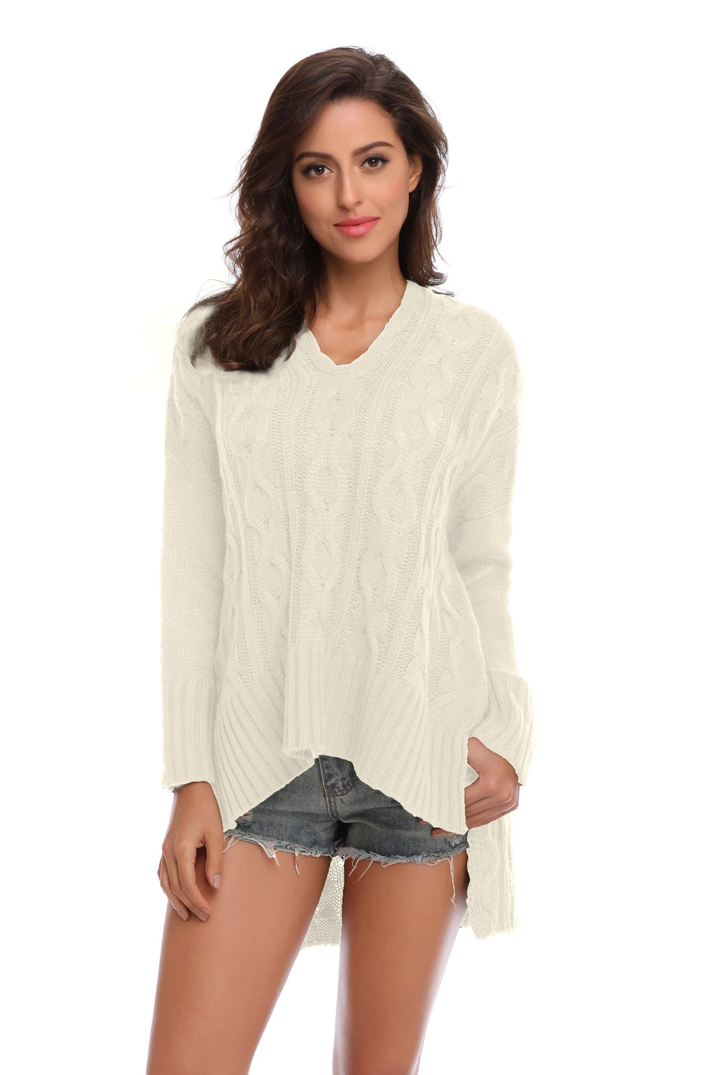 Long Sleeve V Neck Pullover Jumpers