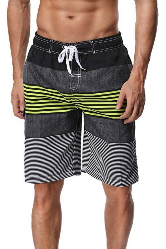 Men's Board Shorts Striped Trunks - Shekini Swimwear