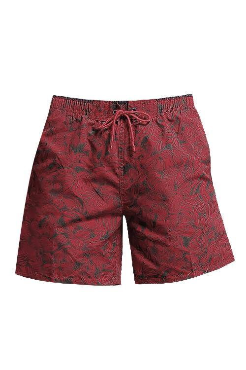 MEN'S PRINT BOARD SHORTS SWIMMING TRUNKS WITH POCKETS