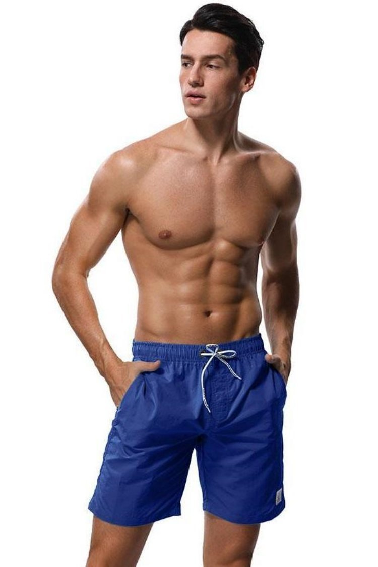 MEN'S SWIM TRUNKS SHORT, NO MESH LINING