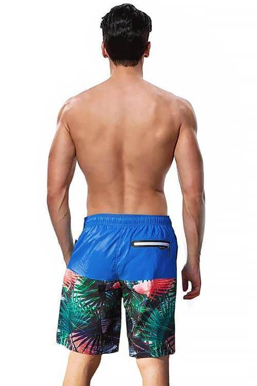 MENS SWIMMING TRUNKS PRINT GRAPHIC WITH POCKETS BEACH SHORTS SURFING