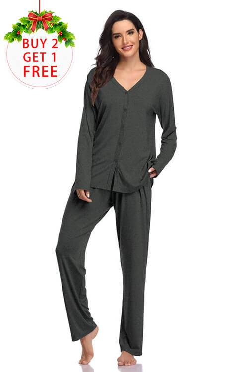 Modal Soft Long Sleeve Pajamas for Women - Shekini Swimwear