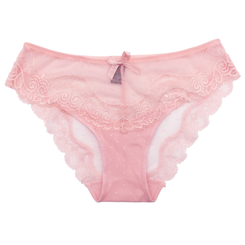 PINK LACE HIPSTER PANTY 1 PC