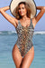 High Cut Low Back One Piece Swimsuit - Shekini Swimwear