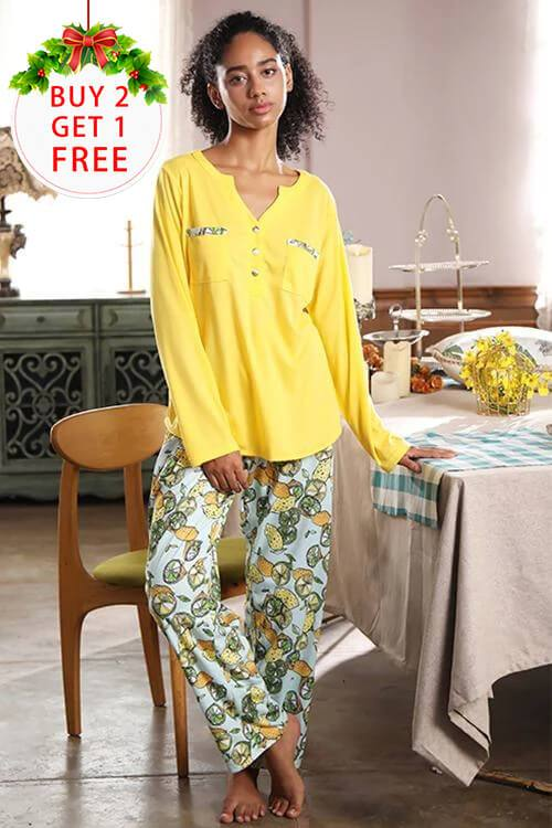 SHEKINI double-sided printed pajamas