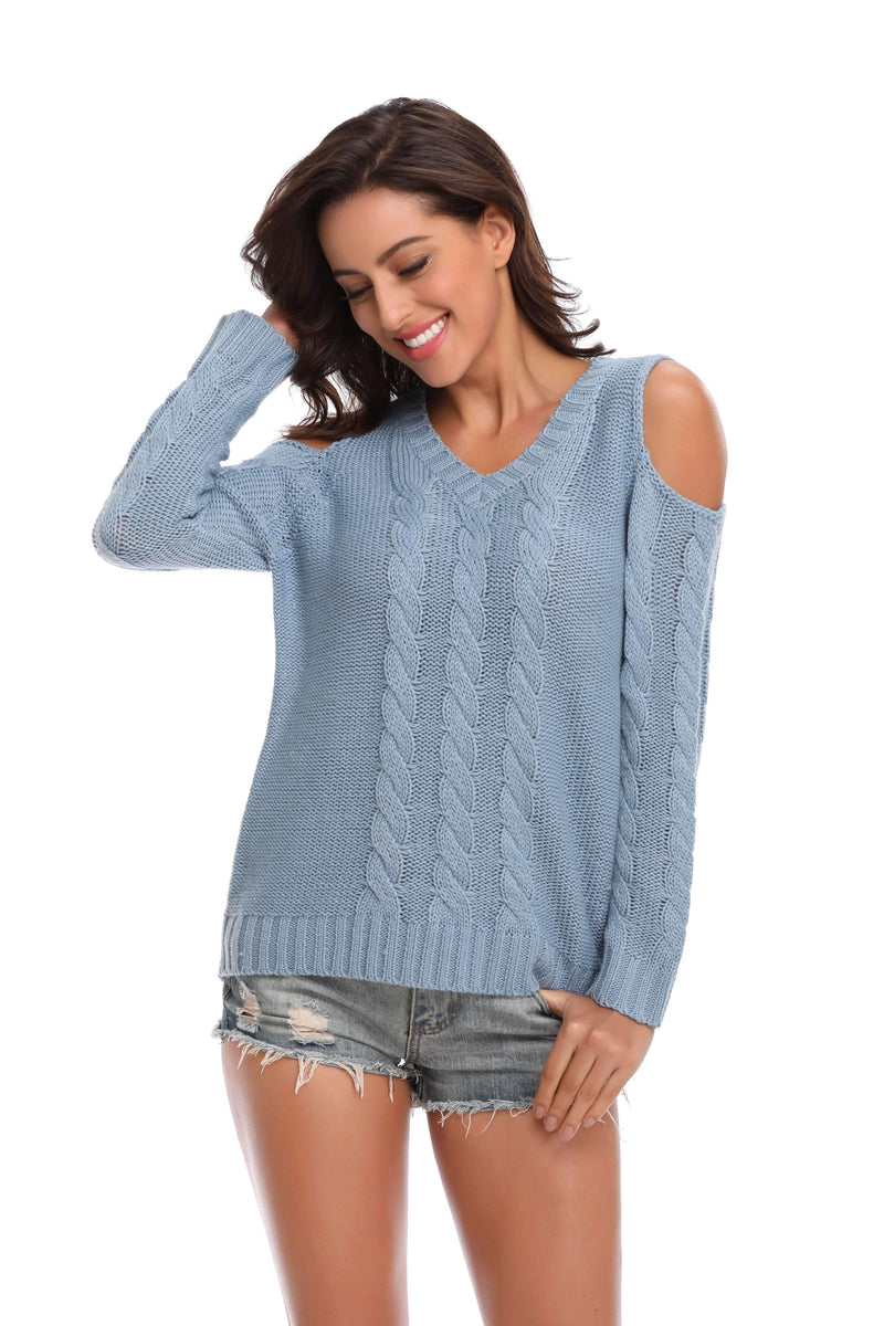 Women's Sweater Casual Long Sleeve Jumpers - Shekini Swimwear