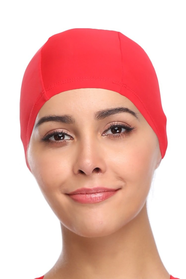 Sports Nylon Spandex Fabric Swimming Cap Bathing Cap Head Cover