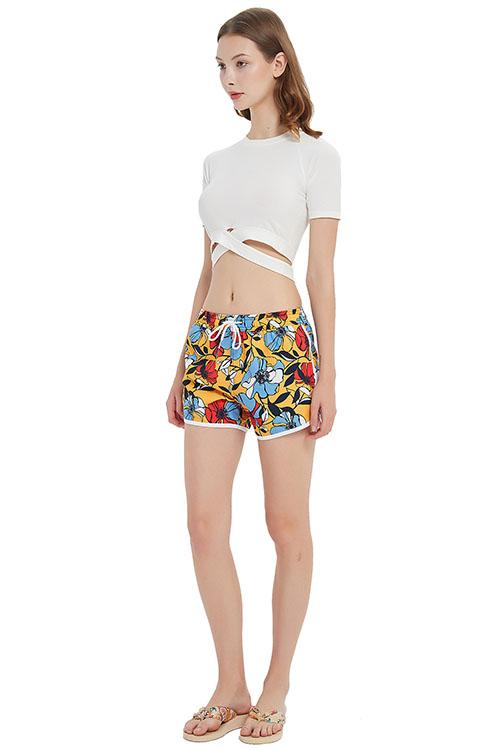Quicky Dry Printed Swim Shorts with Pockets - Shekini Swimwear