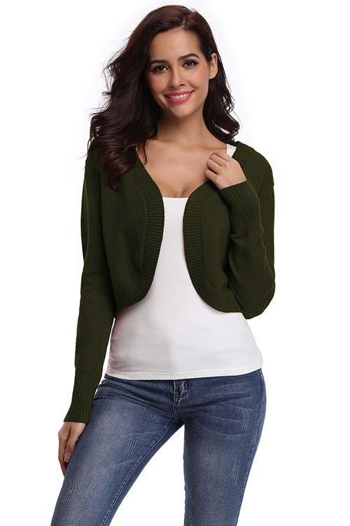 Lightweight Crewneck Cardigan Sweater - Shekini Swimwear