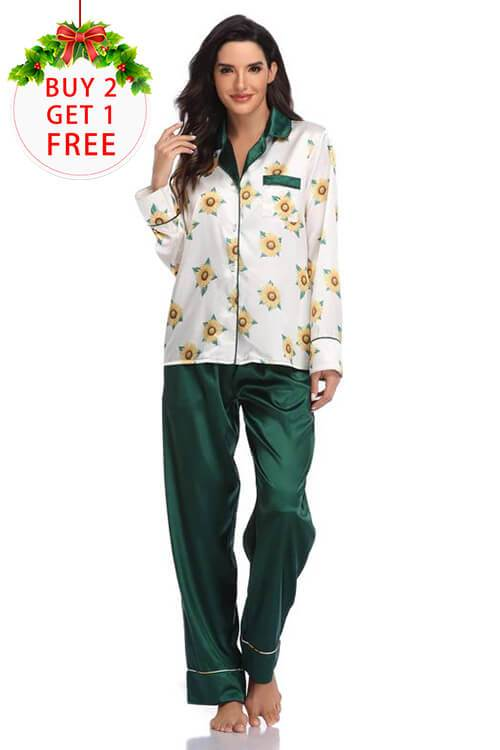 Women's  Palm Leaf Print Sleepwear