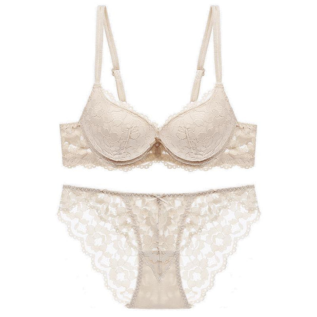 Women's Push Up Lace Embroidery Lingerie Set - Shekini Swimwear