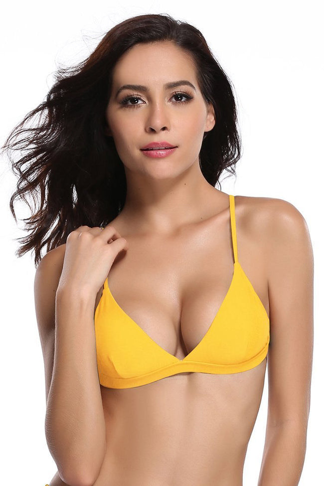 V Neck Triangle Bikini Top - Shekini Swimwear