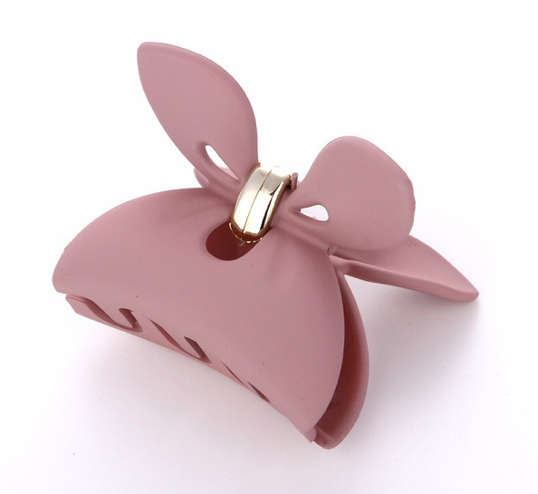 Roxy bow pink clip