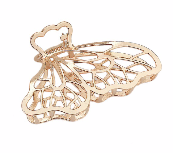 Gold butterfly clip