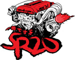 SR20 Number 1  Sticker - RED
