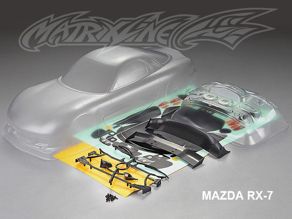 1/10 Mazda RX-7 Clear Body Shell