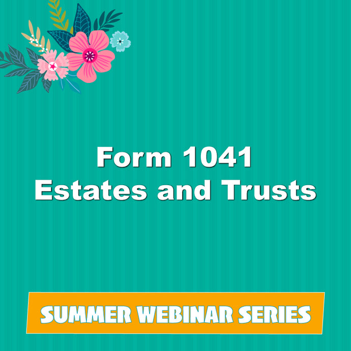 Form 1041 Estates and Trusts