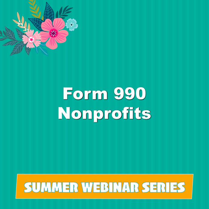 Form 990 Nonprofits