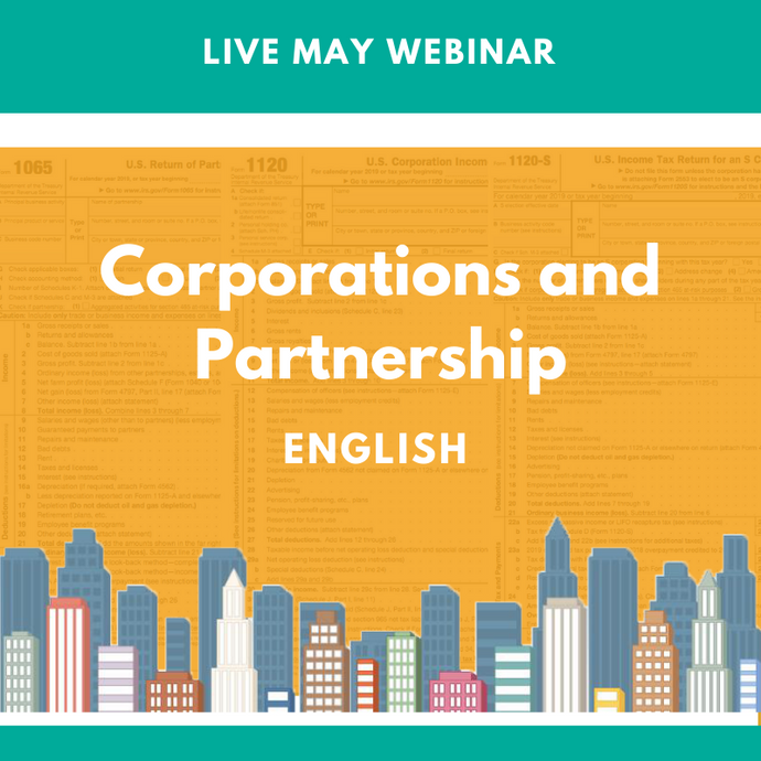 Level I: Live May Corporations and Partnership Webinar