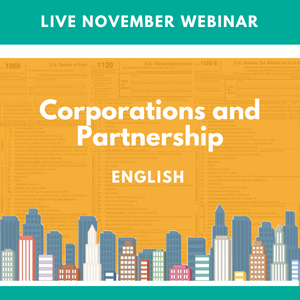 2020 Live November Webinar Corporations & Partnerships